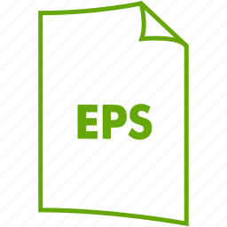 eps, extension, file format, image format icon