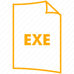 exe, executable, extension, file format icon