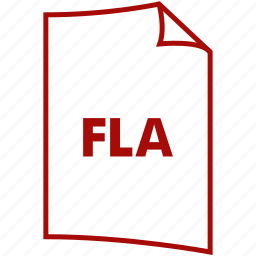 extension, file format, fla, flash format icon