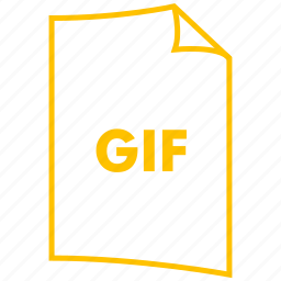 animated file, extension, file format, gif, image format icon