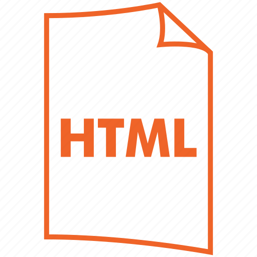 extension, file format, html, hypertext format icon