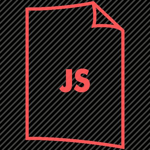 extension, file format, js, script format icon