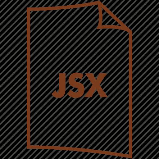 extension, file format, javascript, javascript syntax, jsx icon
