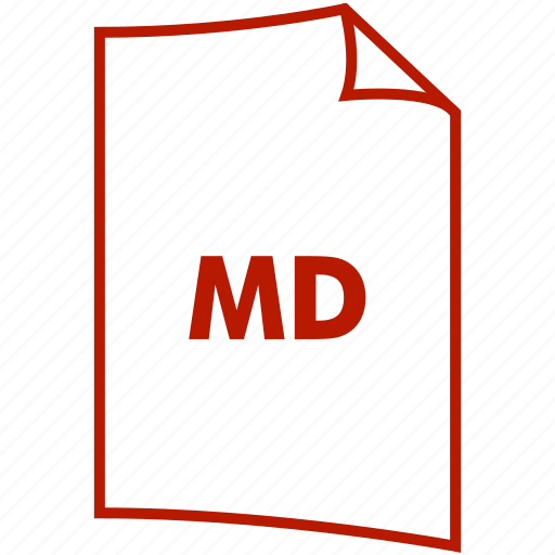 extension, file format, md icon