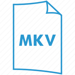 extension, file format, mkv, video format icon