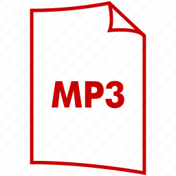 audio format, extension, file, file format, mp3, music format icon