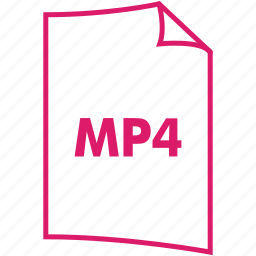 extension, file format, mp4, video format icon