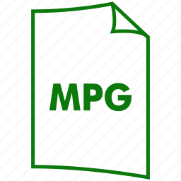 extension, file format, mpeg-1, mpeg-2, mpg, video format icon