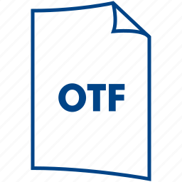 extension, file format, otf icon