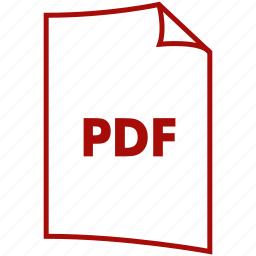 document, extension, file format, pdf icon