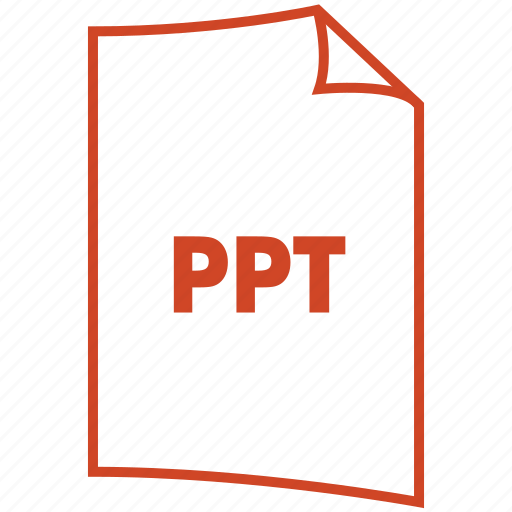 extension, file format, powerpoint, ppt icon