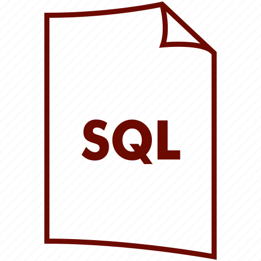 database, extension, file, format, my sql, query, sql icon