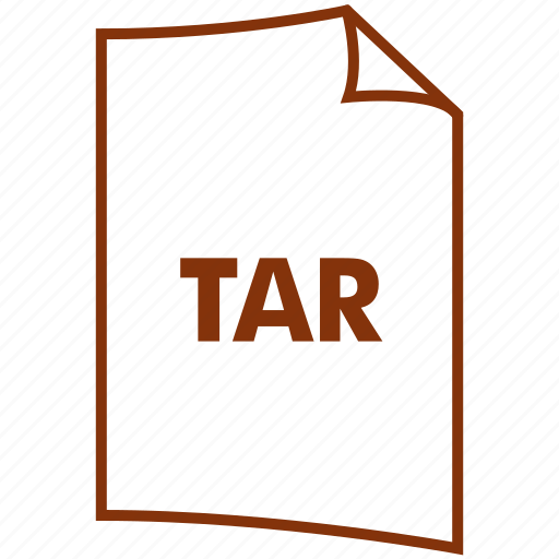 archive, extension, file format, tar, tar format, tarball icon