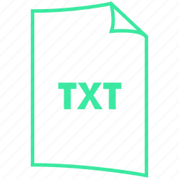 extension, file format, text format, txt icon