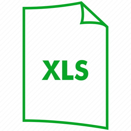 excel file, extension, file format, ms excel, xls icon