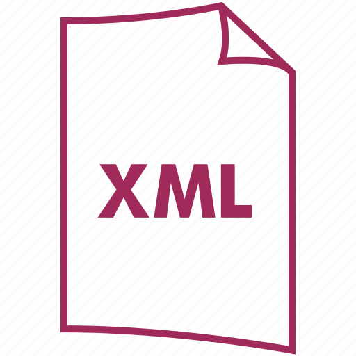 extension, file format, xml icon