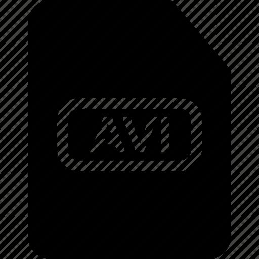 avi, avi document, avi extension, avi file, avi movie icon