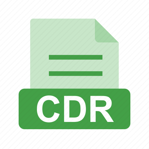 cdr, extension, file, file format icon