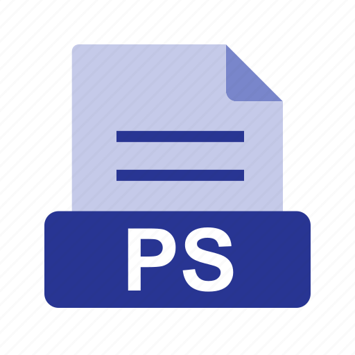 extension, file, file format, ps icon