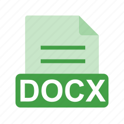 document, docx, extension, file, file format icon