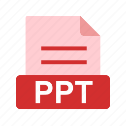 extension, file, file format, ppt, presentation icon