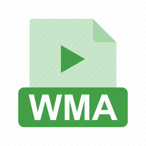 extension, file, file format, media, wma icon