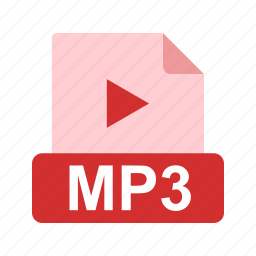 audio, extension, file, file format, media, mp3, music icon