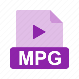 extension, file, file format, mpg icon