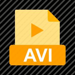 avi, extension, file, file format icon
