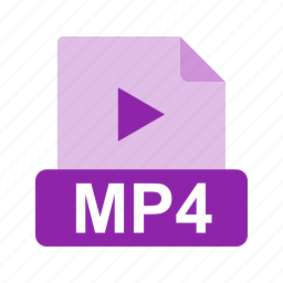 extension, file, file format, media, mp4, video icon