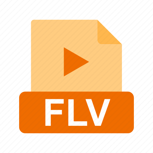extension, file, file format, flv icon