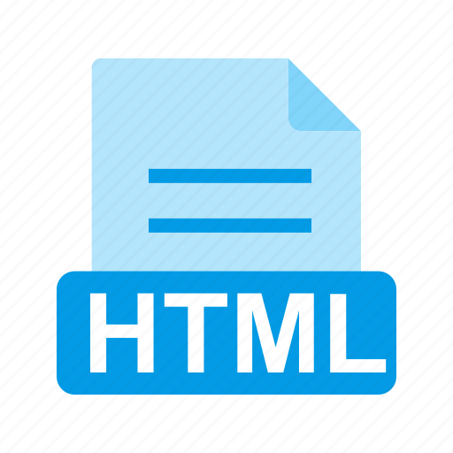 extension, file, file format, html icon