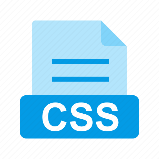 css, extension, file, file format icon