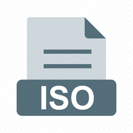 extensiom, file, file format, iso icon