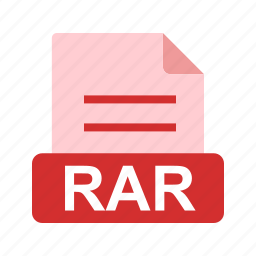 extension, file, file format, rar icon
