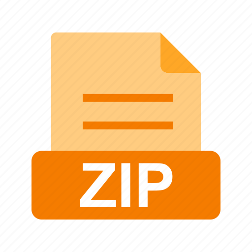 extension, file, file format, zip icon