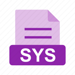 extension, file, file format, sys icon