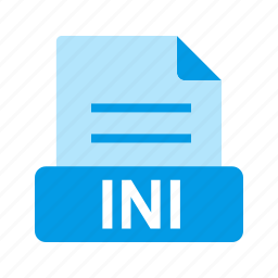extension, file, file format, ini icon