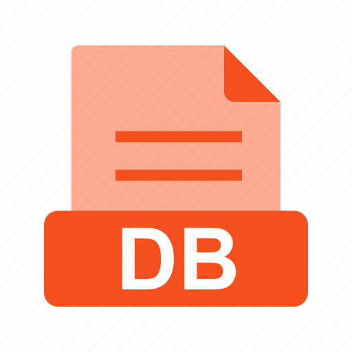 database, db, extension, file, file format icon