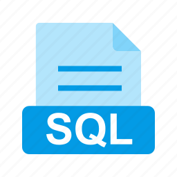 extension, file, file format, sql icon