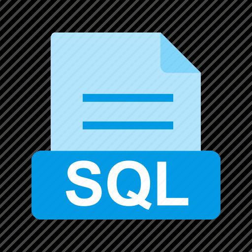extension, file, file format, sql icon