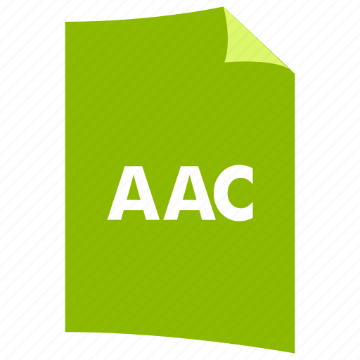 aac, audio format, data format, extension, file format, filetype, music format icon