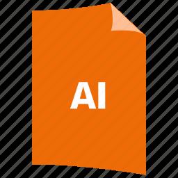 ai format, data format, extension, file format, filetype, illustrator format, image format icon