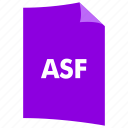 asf, data format, document, extension, file format, filetype icon