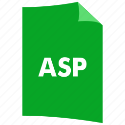 asp, data format, document, extension, file format, filetype icon
