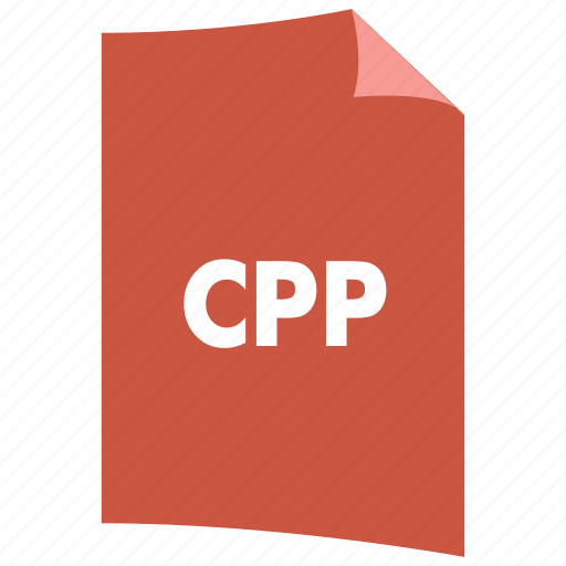 c++, cpp, data format, extension, file format, filetype icon