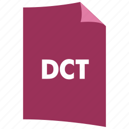 data format, dct, document, extension, file format, filetype icon