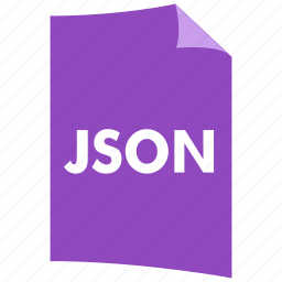 data format, document, extension, file format, filetype, json icon