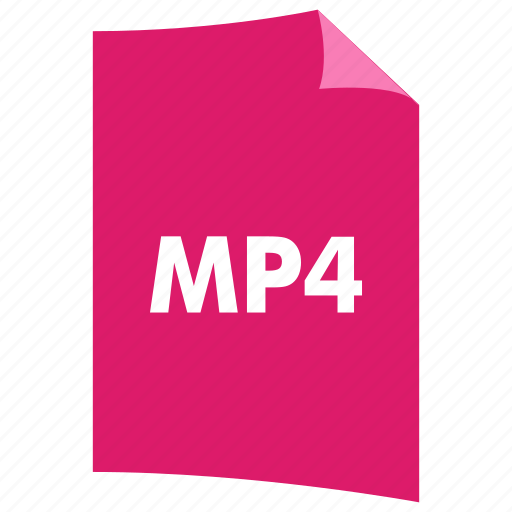 data format, extension, file format, filetype, mp4, video format icon