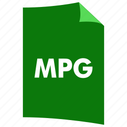 data format, extension, file format, filetype, mpg, video format icon